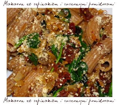 Viva La Pasta Czyli Makaron Orkiszowy Ze Szpinakiem I Suszonymi Pomidorami